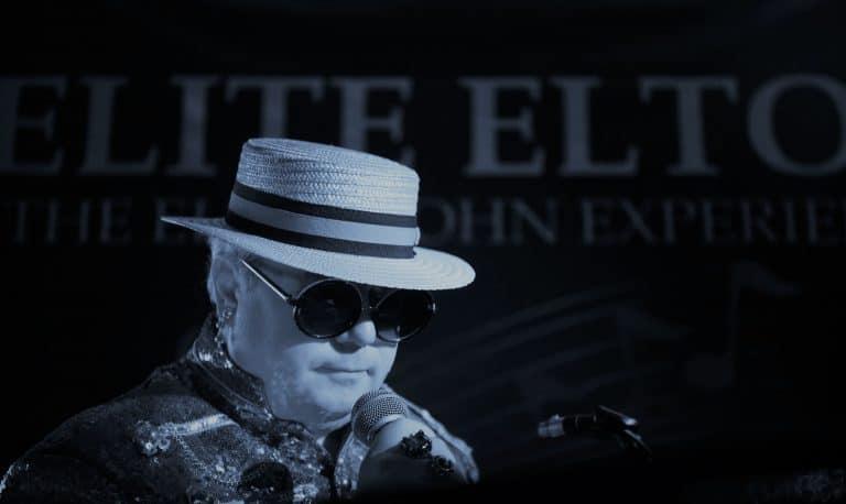 Elton John Look alike in boater