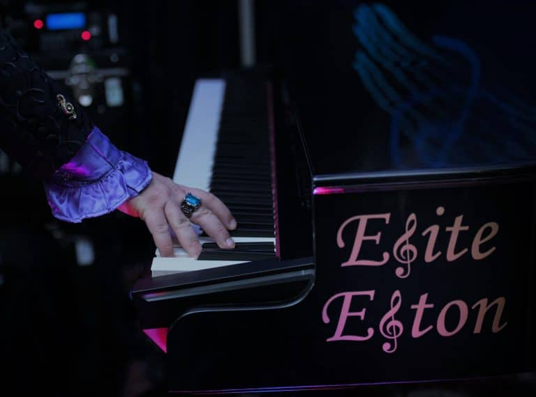 Elton John Impersonator right hand on piano only